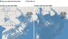 Năm 2050, gần như cả miền Nam chìm dưới nước khi triều dâng