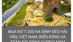 Xử nghiêm kẻ tung tin 200 hecta núi Hải Vân rơi vào tay Trung Quốc