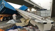 Xe container đâm sập dầm cầu: Bất ngờ giả thiết mới
