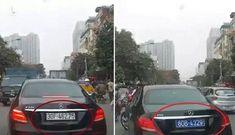 Chuyện chiếc Mercedes E250 tự động đổi biển số giả màu xanh