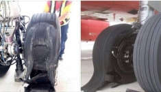Tích cực tìm nguyên nhân khiến máy bay bị rách lốp khi hạ cánh tại sân bay Nội Bài