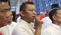 """Trọng tài """"ăn đòn"""" trong trận võ gậy giữa Việt Nam và Myanmar"""