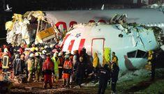 Máy bay gãy 3 đoạn khi hạ cánh làm 182 người thương vong
