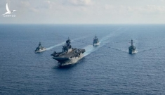 Tàu chiến Mỹ, Úc cùng tham gia tập trận trên Biển Đông