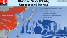 Lộ diện mạng lưới đường hầm bí mật bảo vệ các tàu ngầm Trung Quốc trên Biển Đông