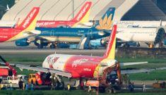 'Giải cứu' thành công máy bay VietJet bị lệch đường băng