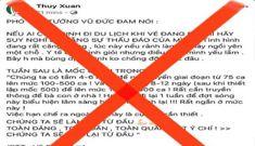 Bác bỏ FB bịa lời của Phó Thủ tướng Vũ Đức Đam về COVID-19