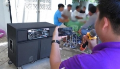 Karaoke loa kéo… đại náo khu dân cư