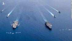 Lực lượng tấn công mẫu hạm khủng của Mỹ xuất hiện ở Biển Đông