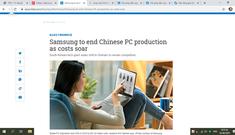 Samsung dời nhà máy cuối cùng từ Trung Quốc sang Việt Nam