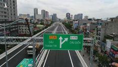 Cận cảnh cầu cạn ở Hà Nội cho ô tô chạy 100km/h sắp thông xe