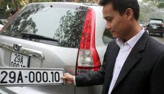 Bộ Công an sẽ sớm đấu giá biển số xe để người dân chọn số theo sở thích