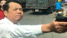 Khởi tố, tạm giam giám đốc công ty bảo vệ dọa 'bắn vỡ sọ' tài xế xe tải