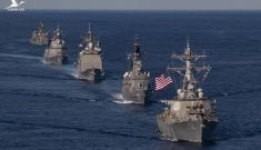 Mặc siêu bão, Mỹ và Nhật vẫn tập trận tại Biển Đông nhằm thị uy Trung Quốc