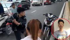Tạm giam nam thanh niên đập xe người đi đường sau va chạm giao thông với bà bầu
