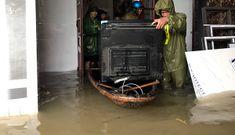 Công an Nghệ An tăng cường lực lượng giúp dân ứng phó mưa lũ lớn