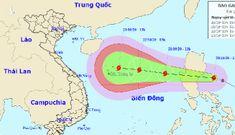 Bão mạnh cấp 8 đang tiến vào Biển Đông