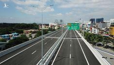 Ngắm diện mạo tuyến đường trên cao Mai Dịch – Nam Thăng Long hơn 5.300 tỉ đồng sắp thông xe