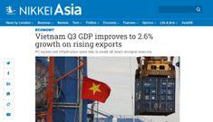 Nikkei: GDP quý 3 của Việt Nam tăng trưởng 2,6% nhờ xuất khẩu tăng