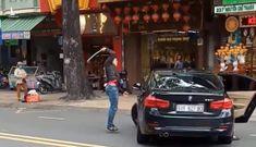 Nguyên nhân bất ngờ vụ thanh niên vác gậy đập xe BMW