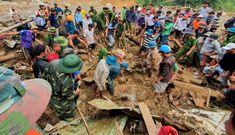 Công an, quân đội khẩn trương tìm kiếm những nạn nhân bị vùi lấp ở Trà Leng
