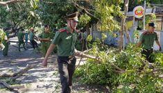 Công an giúp dân Quảng Nam giúp khắc phục hậu quả bão số 9