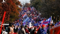 Hàng trăm nghìn người ủng hộ Tổng thống Donald Trump xuống đường ở Washington