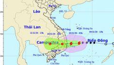Bão số 12 mạnh lên, lao nhanh về phía Bình Định – Ninh Thuận