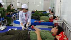 CBCS Công an đã hiến gần 56.000 đơn vị máu trong năm 2020