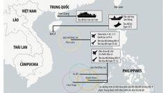 Nhóm tàu Trung Quốc ngang nhiên tập trận rầm rộ trên biển Đông