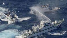 """Lộ clip nóng tàu Trung Quốc và Nhật Bản """"quần thảo"""" lẫn nhau"""