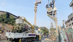 Công ty điện lực nói nguyên nhân 5 cột điện đổ cùng lúc ở Thảo Điền
