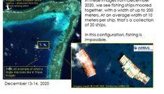 Ảnh vệ tinh tiết lộ số lượng lớn tàu Trung Quốc ở Đá Ba Đầu không đánh bắt cá