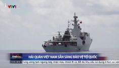 Tàu hộ vệ Việt Nam và trực thăng săn ngầm diễn tập chiến đấu ở Trường Sa