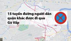 Sơ đồ các tuyến đường ở Gò Vấp, quận 12 người dân được đi qua