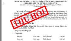 Yêu cầu Cục Quản lý y dược cổ truyền kiểm điểm, làm rõ trách nhiệm vụ công văn 5944
