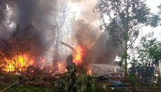 Hiện trường vụ tai nạn máy bay quân sự Philippines, gần 100 người thương vong