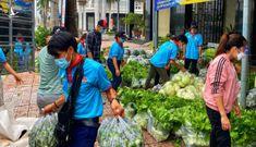 Người trẻ quần quật chuyển rau xanh đến các khu cách ly, phong tỏa tặng người dân