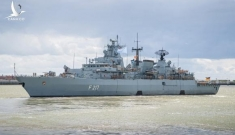 Tàu chiến Đức khởi hành đến châu Á
