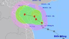 Áp thấp nhiệt đới sẽ mạnh lên thành bão, gió giật cấp 12, đang hướng vào miền Trung