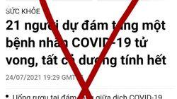 """Sự thật thông tin """"21 người dự đám tang bệnh nhân Covid-19 tử vong, tất cả dương tính hết"""""""