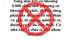 Đăng tin 'tào lao' nói 'Hà Nội có khoảng 3.000 chốt', nhận phạt 12,5 triệu đồng