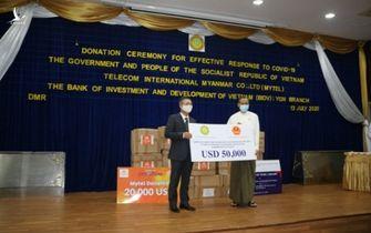 Việt Nam ủng hộ Myanmar 50.000 USD để phòng, chống dịch