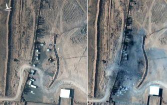Đòn không kích Mỹ san phẳng trại dân quân ở Syria