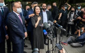 """Thông điệp """"đẫm nước mắt"""" của bà Mạnh Vãn Chu trên đường trở về Trung Quốc"""