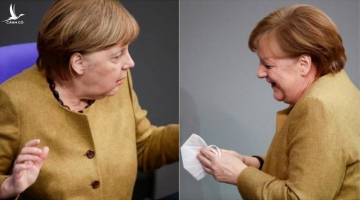 Khoảng khắc hoảng hốt duy nhất của Thủ tướng Đức Angela Merkel