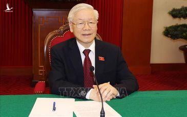 Tổng Bí thư Nguyễn Phú Trọng điện đàm thông báo kết quả Đại hội XIII tới Tổng thống Nga  Putin